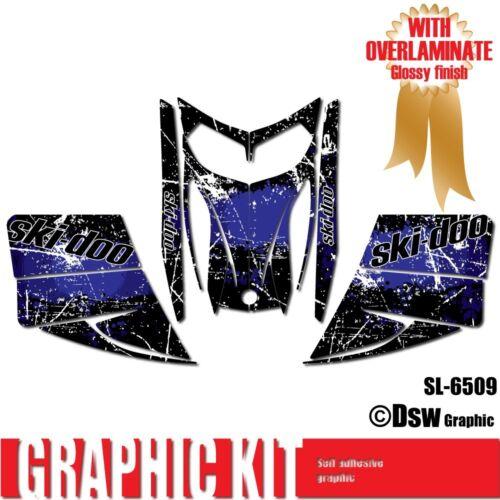 SLED WRAP DECAL STICKER GRAPHICS KIT FOR SKI-DOO REV MXZ SNOWMOBILE 03-07 SL6509