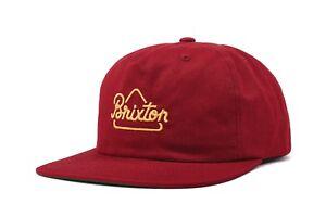 BRIXTON-NEWBURY-SNAPBACK-CAP-NEU-BURGUNDY-BRIXTON-SUPPLY