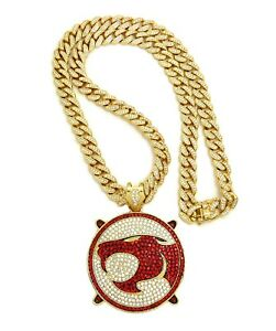 ICED-OUT-THUNDER-CAT-PIECE-WITH-12mm-30-034-ICED-OUT-MIAMI-CUBAN-CHAIN