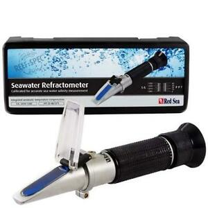 SEAWATER-REFRACTOMETER-AQUARIUM-SALINITY-SALTWATER-TESTING-HYDROMETER-RED-SEA