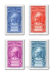 ITALIA-Repubblica-Francobolli-POSTA-PNEUMATICA-MNH-Spezzoni