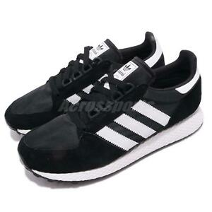 buy popular a647f 373e9 Image is loading adidas-Originals-Forest-Grove-Black-White-Men-Running-