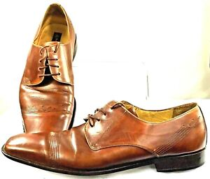 Mezlan-Oxfords-Men-039-s-Size-13-M-Brown-Leather-Lace-Up-Square-Toe-Dress-Shoe-Spain