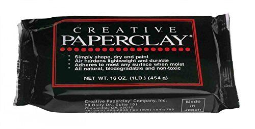 Glorex 0 0904–Paperclay Modelling Clay White 450 g