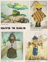 Macrame Frog & School Teacher Wall Hanging Guys 'n Gals No. 1 Pd-1081 1230