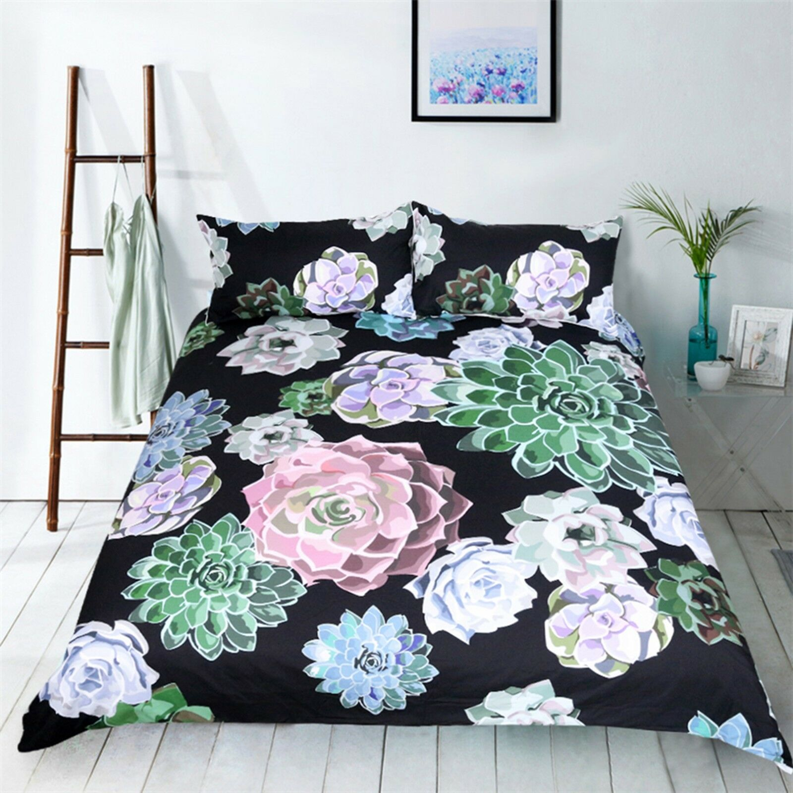 3D Succulent Plant 41 Bed Pillowcases Quilt Duvet Cover Set Single Queen King AU