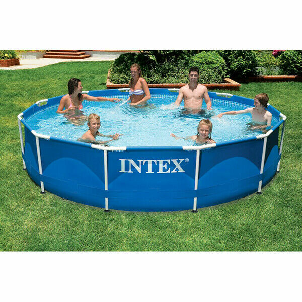 Intex 28210np 366 X 76cm Frameset Round Swimming Pool Size Large Blue For Sale Online Ebay