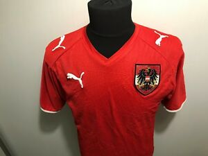 brand new 5ea05 710b0 Details about AUSTRIA NATIONAL TEAM FOOTBALL SHIRT TRIKOT MEN'S SIZE M  SOCCER JERSEY RETRO 08
