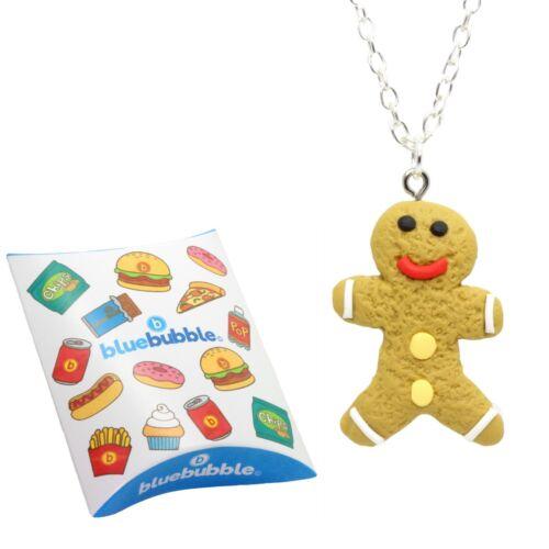 Bluebubble CHRISTMAS COOKIE Necklace Funky Festive Christmas Novelty Kitsch Xmas