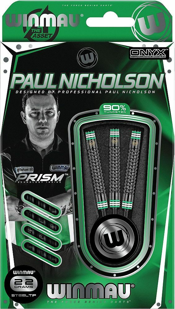 WINMAU Steel Darts 24 Dartpfeile Pfeile PlayerPaul Nicholson The Asseen 24 Darts gr. 1403 bba9c6