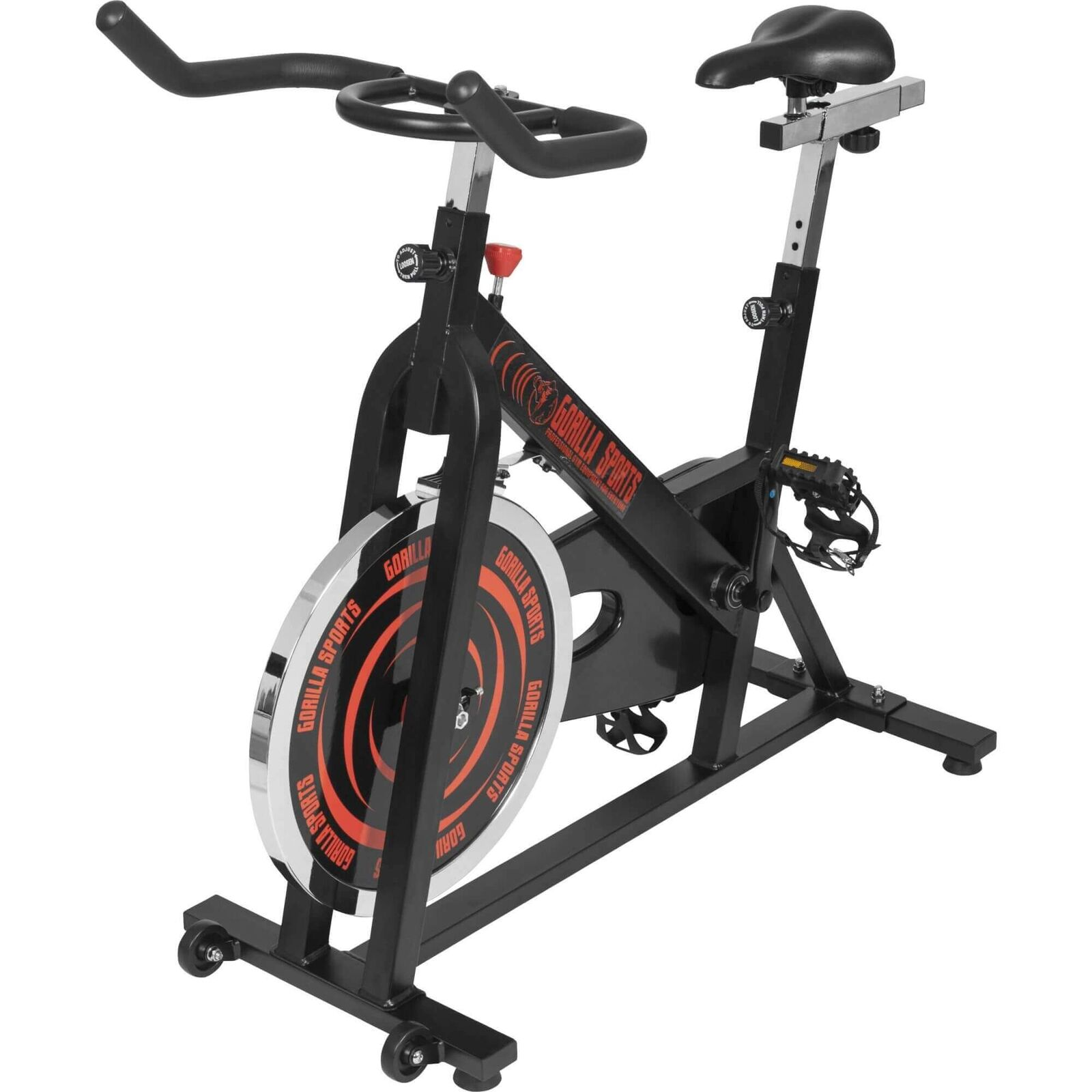 GORILLA SPORTS® Indoor Cycling Fitness Bike Ergometer Fahrrad Rad Heimtrainer