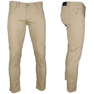 KAYDEN.K KHAKI Men's Skinny Jeans Twill Denim Pants Size 28 ...