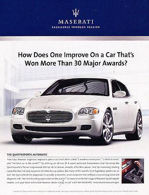 Classic Advertisement Ad A48-B exotic 2008 Maserati Granturismo