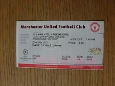 22/10/1997 Ticket: Manchester United v Feyenoord [European Cup]