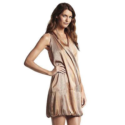 Derek Lam For DesigNation Bubble Hem Dress Woodgrain Papaya XS S M L XL NEW