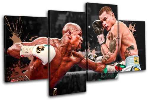 Mayweather Maidana Boxing Sports MULTI CANVAS WALL ART Picture Print VA