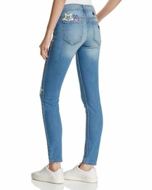 GUESS BRITTNEY STARS PEACE BASTILLO Destroy Wash Ripped Skinny Jeans NWT