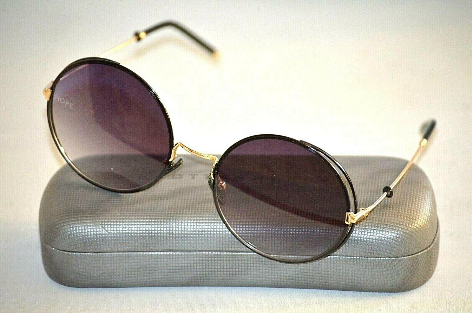 NEON HOPE EOS M2 C1 Black Gold Metal Round Women's Sunglasses