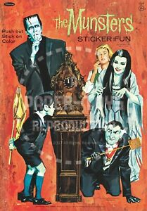 THE MUNSTERS COLORING BOOK SAMPLER 1965 VINTAGE REPRINT
