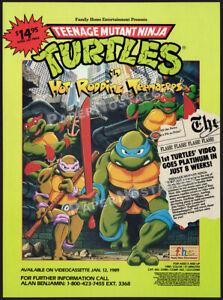 Teenage Mutant Ninja Turtles__Hot Rodding__Original 1988 Trade AD / ADVERT__TMNT