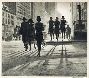 Shadow-Dance-Martin-Lewis-Drypoint-etching-Fine-Art-Print-NYC
