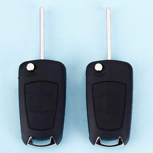 2x Carcasa 2 Botones Repuesto de Mando a Distancia para Opel Vauxhall  Astra H