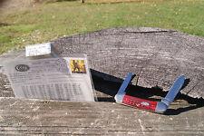 CASE X 2000 RED BONE CANOE KNIFE ROCK AND ROLL POSTCARD DOUBLE SHIELD 1/50 62131