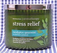 Bath & Body Works Stress Relief Eucaliptus Spearmint Aromatheropy 3-wick Candle