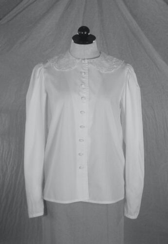 LAURA ASHLEY vintage 90s crisp cotton BLOUSE fab … - image 1