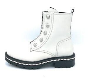 Borchie Pelle Bianco Accessorio E Cerniera Zanon Tacco C I6507 armato Stivaletto wYZqxg4a4