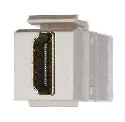 Keystone Couplers HDMI USB 3.5mm AUDIO (Headphone) Cat 6 White