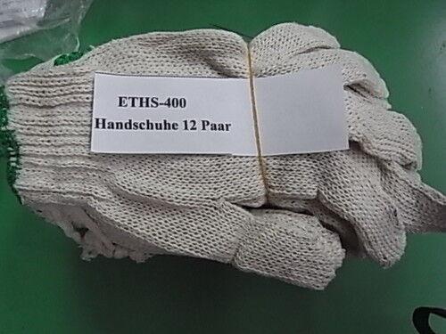 Montagehandschuhe Baumwolle 400 gramm 12 Paar ETHS400