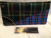 Mac Makeup Brushes & Plaid Bag She's Got It All Beautiful Set