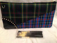 Mac Makeup Brushes & Plaid Bag She's Got It All Beautiful Set