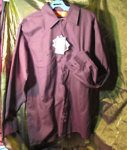 DICKIE/'S NWT Men/'s Long Sleeve Blue Button up Collar Workshirt Size Large LN