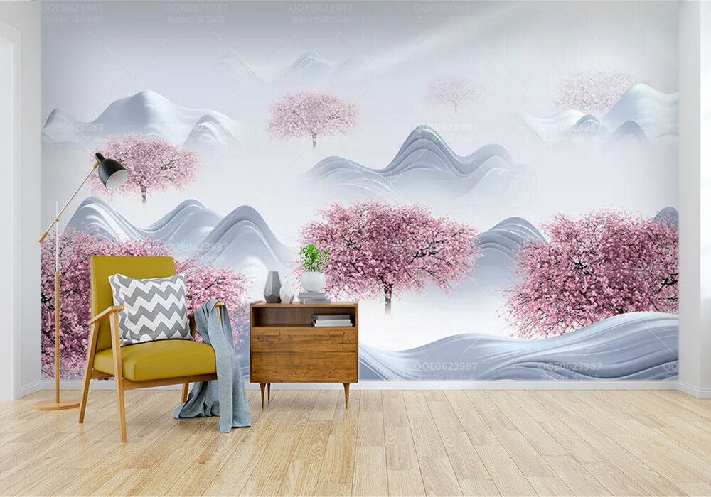 3D Trees Flowers 038 Wall Paper Exclusive MXY Wallpaper Mural Decal Indoor AJ