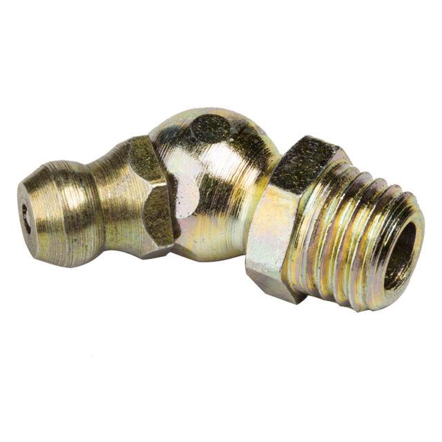 Grease Nipple 1/4 Inch BSP Thread Mild Steel 45° Ang Pack of 25