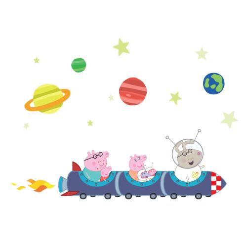 Peppa Pig rocket train wall stickers packOfficial Peppa Pig wall stickers