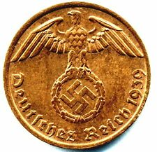 Nazi German Bronze 2 Pfg Coin-VG+ Condition Own a piece of History 17-25