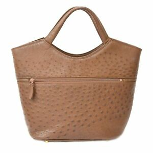 Image Is Loading Authentic Genuine Ostrich Leather Shoulder Hand Bag Tote