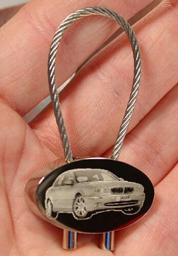Modelle Gravur S-Type XJ X-Type  usw. Jaguar Schlüsselanhänger verschied