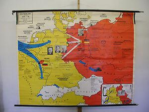 Schulwandkarte Wandkarte Deutschland Germany 1948-74 BRD DDR 202x159 ...