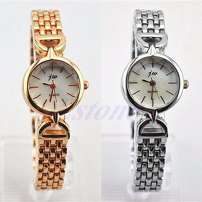 Hot Women's Fashion Stainless Steel Dial Quartz Analog Bracelet Wrist Watch