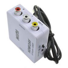 HDMI zu 3 RCA/AV Komposit Full HD Video Konverter Adapter 720p/1080p PAL/NTSC@