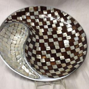 julia knight brown white checkered classic round 13 1 4 yin yang
