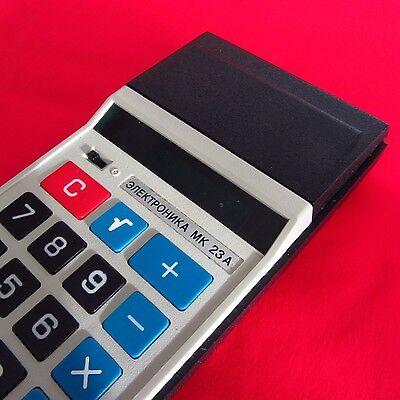 Rare Soviet Union Russian pocket calculator Elektronika MK 23A w/soft case USSR