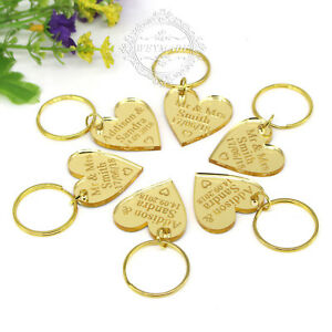 Personalized-Engraved-Keyrings-Gold-Love-Heart-Keychain-Gift-Tag-Wedding-Favours