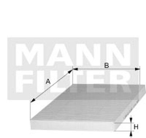 MANN-FILTER Innenraumfilter CUK 24 003 Aktivkohlefilter für OPEL ASTRA MERIVA