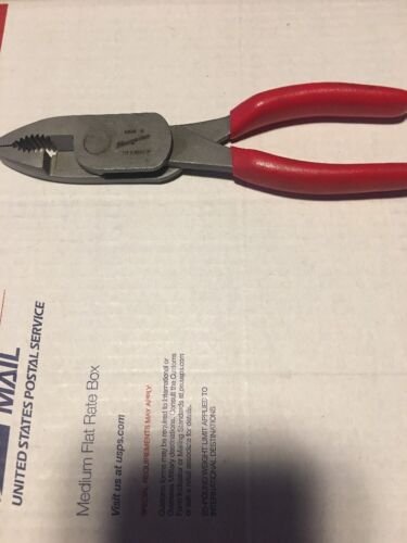 """Red Snap On  7-7//8/"""" High Leverage Combination Pliers"""