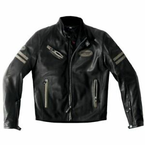 Spidi-Ace-Leather-Jacket-Size-52-Euro-Black-Brown-SUPER-SALE